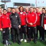 MSA Coaches meet TFC head coach - from left: Cristian, Omar, Jon, Chris Cummings (TFC), Mike, Uwe, Stephen, Mark R, Mark B, Pat, Marius, and Vince (Oct 3, 2009)